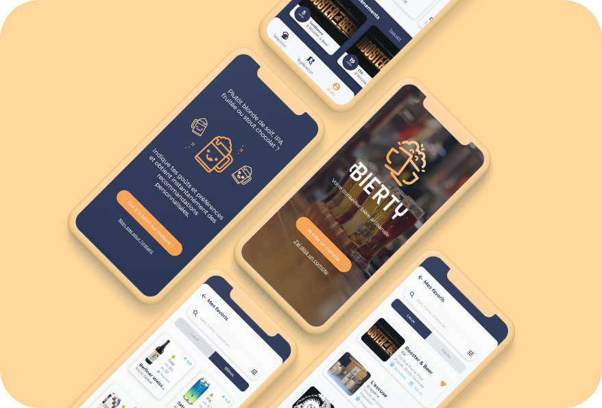Visuels application - conseil en bière artisanale