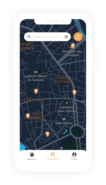 Carte exploration bars bières artisanales