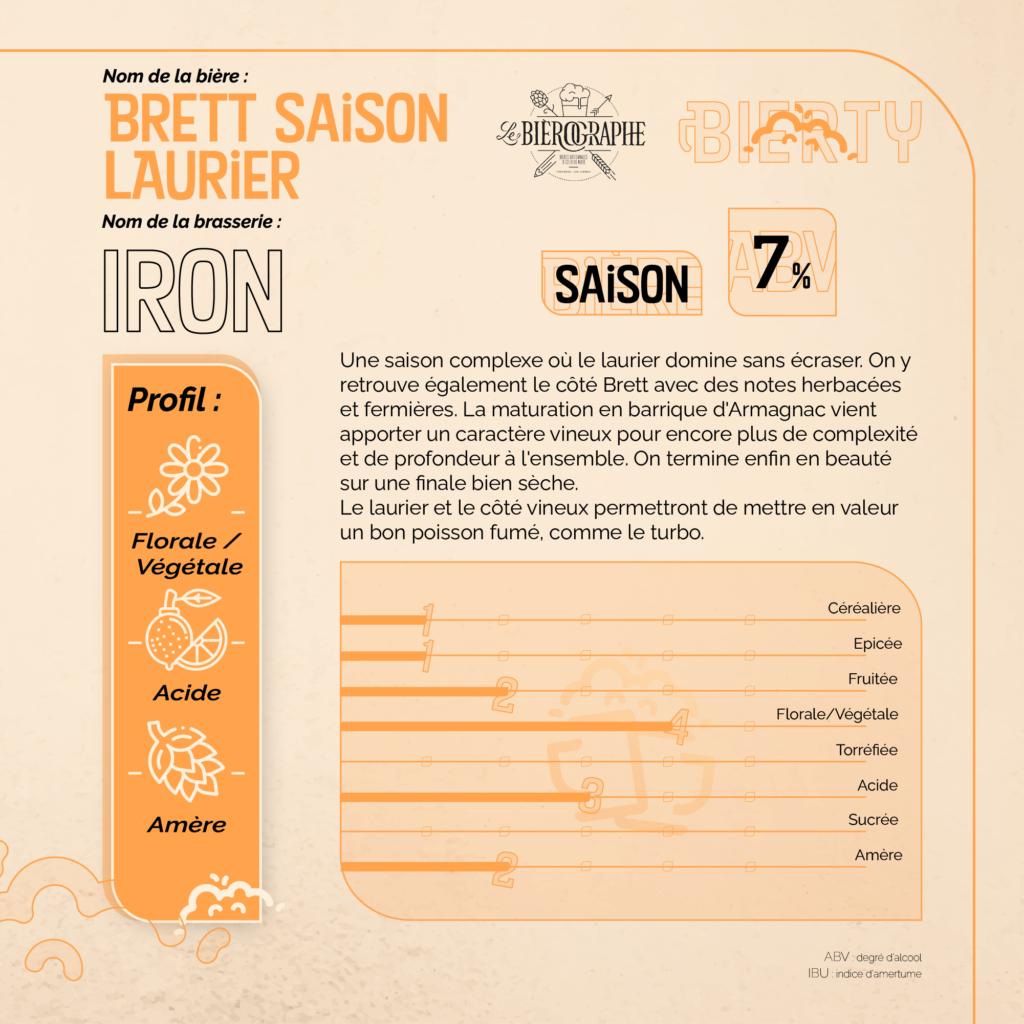 description brett saison laurier