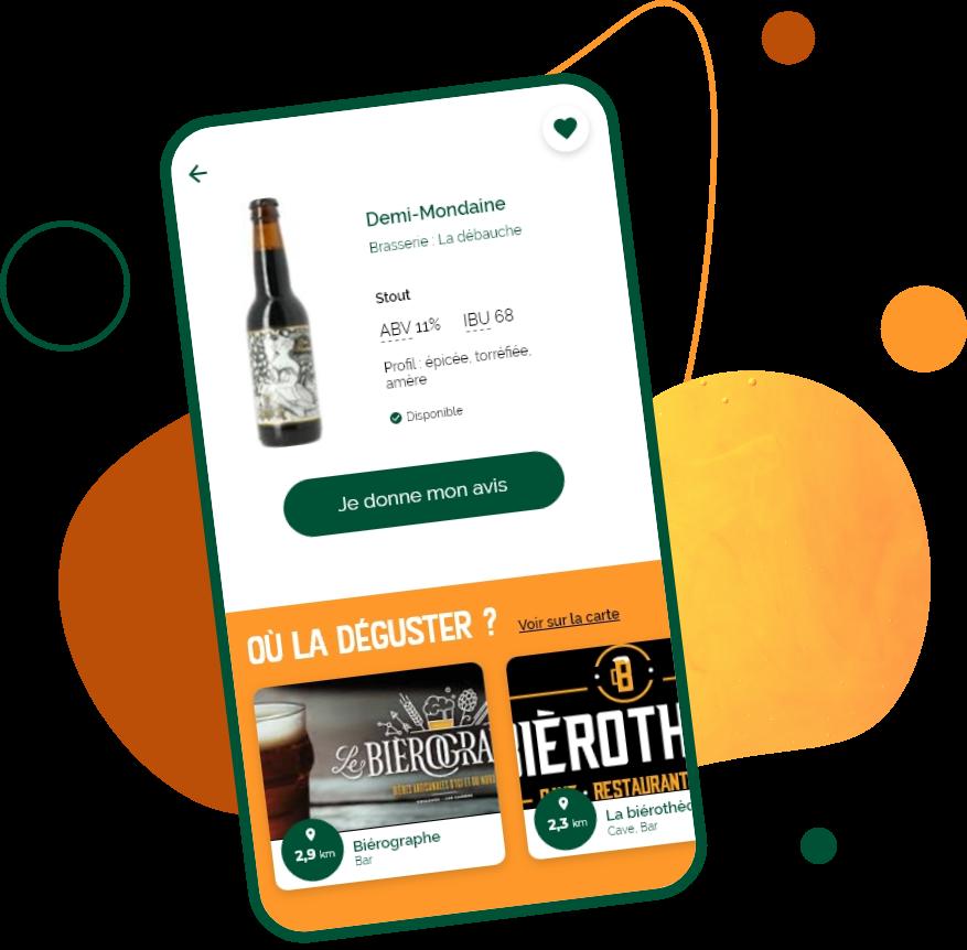 page fiche bière application bierty