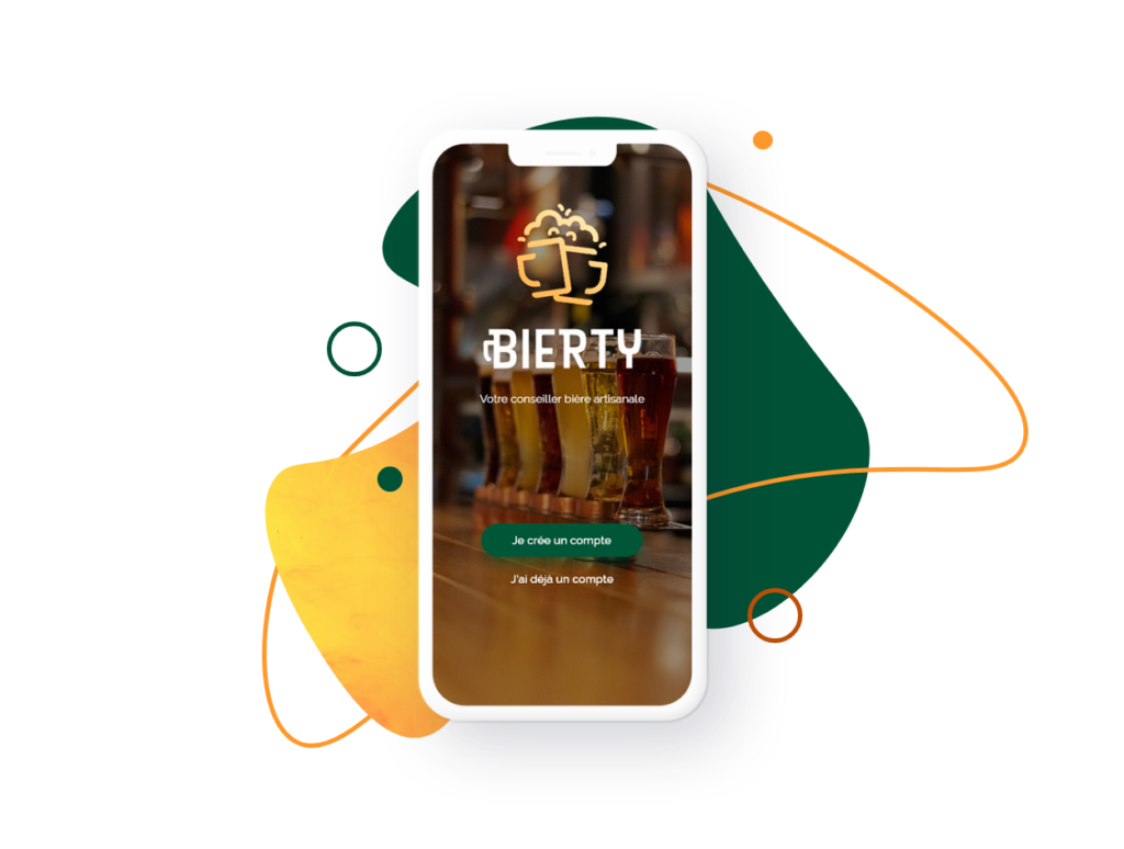 Home page application Bierty