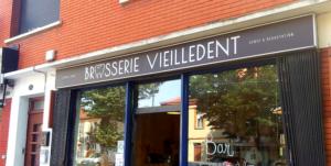 Devanture de la brasserie Vieilledent