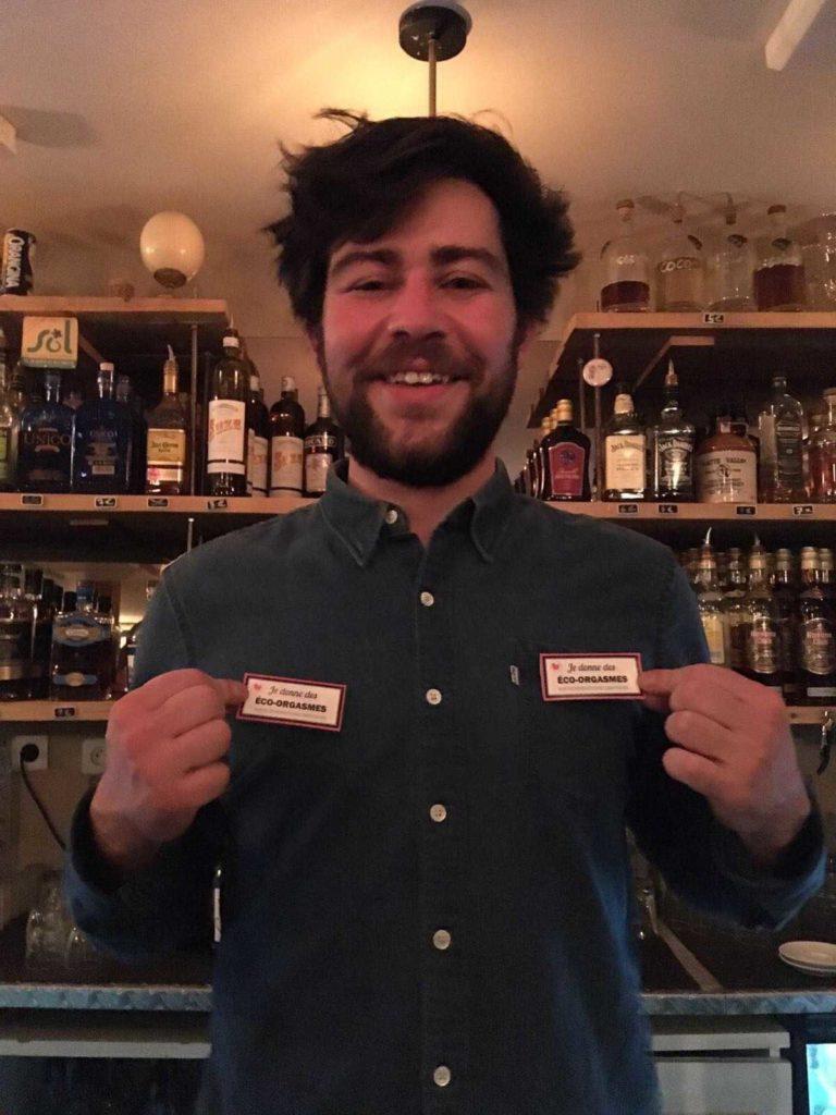 Photo de Joris, le gérant du bar et de la microbrasserie